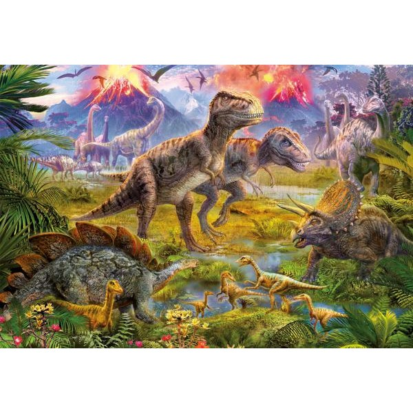 Puzzle Educa - Meeting of dinosaurs 500 piese