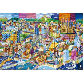 Puzzle Educa 1500 piese Philip Stanton: Barcelona