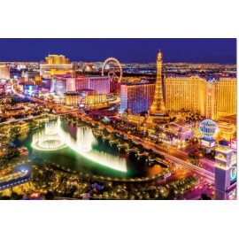 Puzzle Educa - Neon Las Vegas 1000 piese include lipici puzzle (16761)