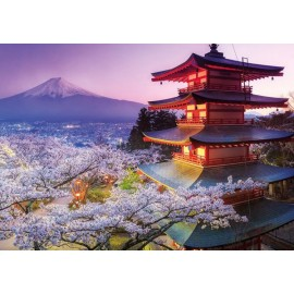 Puzzle Educa - Mount Fuji Japan 2000 piese include lipici puzzle (16775)