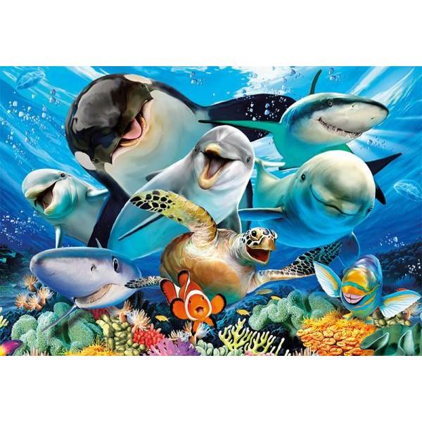 Puzzle Educa - Underwater selfies 500 piese