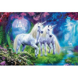 Puzzle Educa - Unicorns in the forest 500 piese