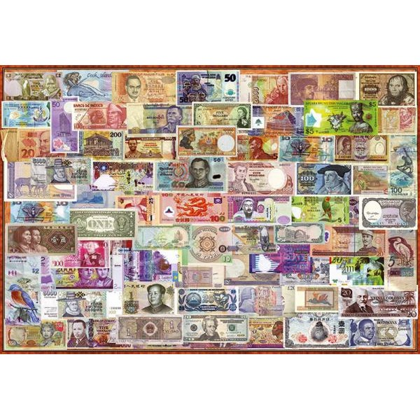 Puzzle Educa - World banknotes 1000 piese include lipici puzzle (17659)