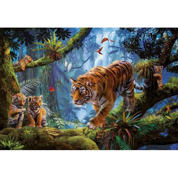 Puzzle Educa - Tigers in the tree 1000 piese