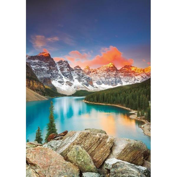 Puzzle Educa - Moraine Lake Banff National Park Canada 1000 piese include lipici puzzle (17739)