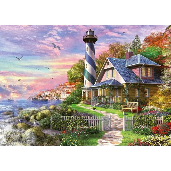 Puzzle Educa - Lighthouse at Rock Bay 1000 piese