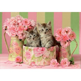 Puzzle Educa - Kittens With Roses 500 piese (17960)