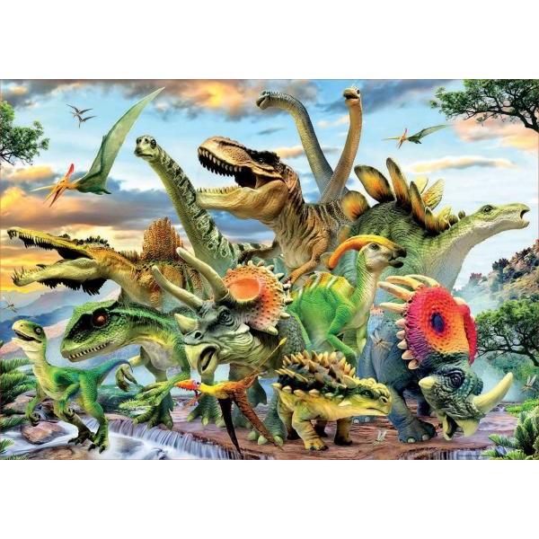 Puzzle Educa - Dinosaurs 500 piese (17961)