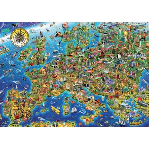 Puzzle Educa - Harta Europei 500 piese