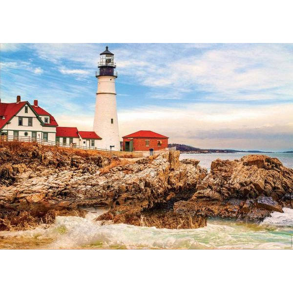 Puzzle Educa - Lighthouse On The Rock  1500 piese