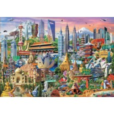 Puzzle Educa - Attractions In Asia 1500 piese