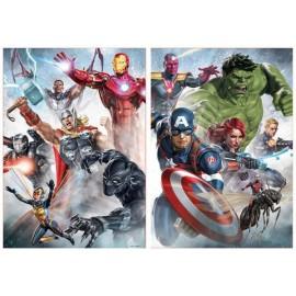 Puzzle Educa 2 x 500 piese Avengers