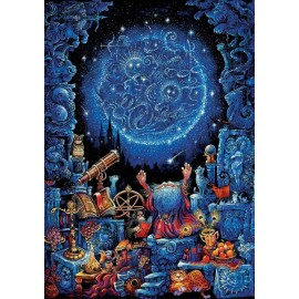 Puzzle fosforescent Educa - The Astrologist 1.000 piese