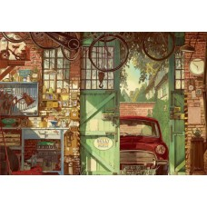 Puzzle Educa - Arly Jones: Old Garage 1500 piese