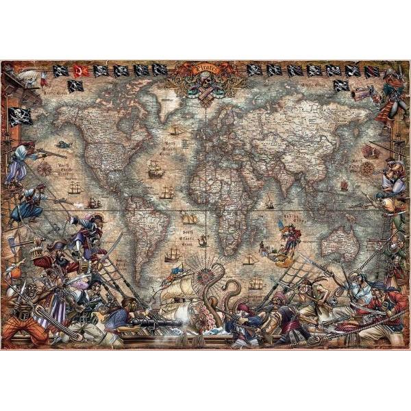 Puzzle Educa - Pirates Map 2.000 piese
