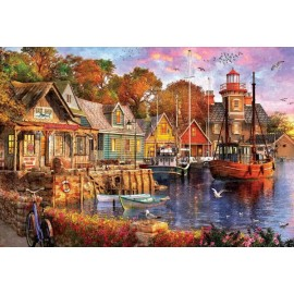 Puzzle Educa - Sunset In The Port 5.000 piese
