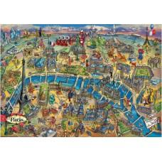 Puzzle Educa 500 piese Harta Parisului