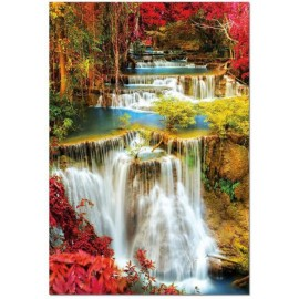 Puzzle Educa - Waterfall in Deep Forest 1.000 piese