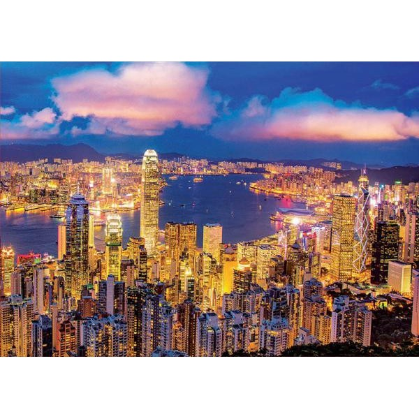 Puzzle fosforescent Educa - Hong Kong Skyline 1.000 piese