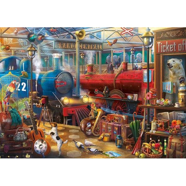 Puzzle Educa - Enigmatic Train Station 500 piese