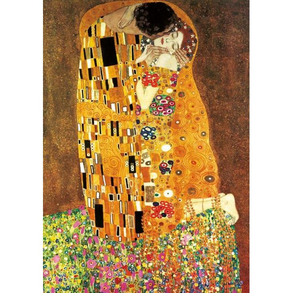 Puzzle Educa - 2 x 1.000 piese Klimt: The Kiss   The Maiden