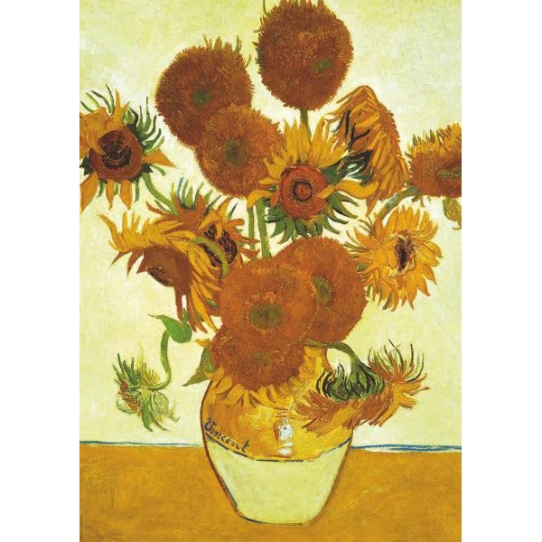 Puzzle Educa - 2 x 1.000 piese Van Gogh Sunflowers   Cafe Terrace at