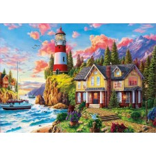 Puzzle Educa 3000 Lighthouse Near the Ocean