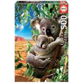 Puzzle Educa - Koala and cub 500 piese