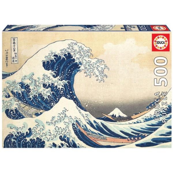 Puzzle Educa - Marele val de la Kanagawa 500 piese