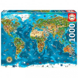 Puzzle Educa - Wonders of the World 1000 piese (19022)