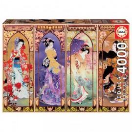Puzzle Educa 4000 piese Japanese collage (19055)