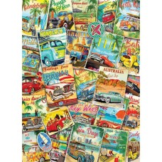 Puzzle 1000 piese - Vintage Travel Collage (Eurographics-6000-5628)