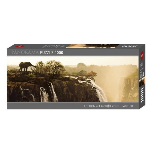 Puzzle panoramic Heye - Von Humboldt Alexander: Alexander von Humboldt : Elephant 1.000 piese (5070)