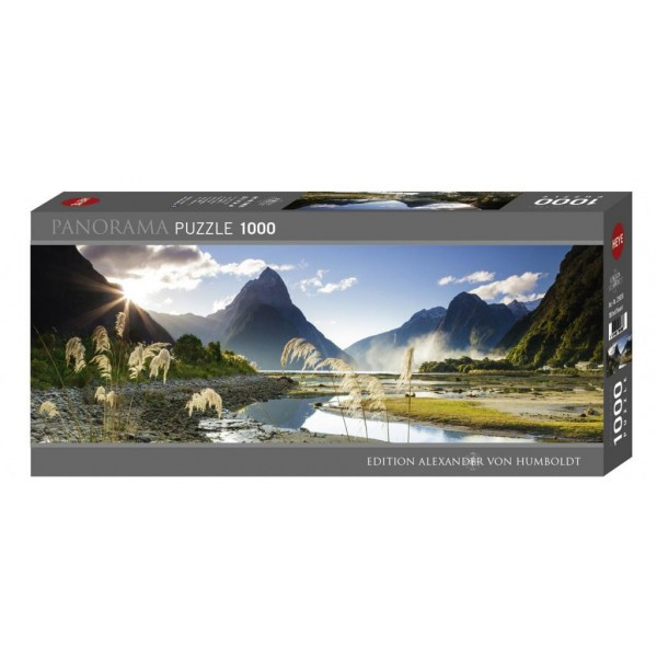 Puzzle panoramic Heye - Sarah Sisson: Milford Sound 1.000 piese (43631)