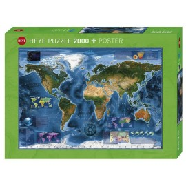 Puzzle Heye - Satellite Map of the world 2.000 piese (57753)