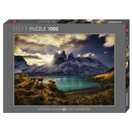 Puzzle Heye - Von Humboldt Alexander: Von Humboldt Alexander - Guanacos 1.000 piese (61431)