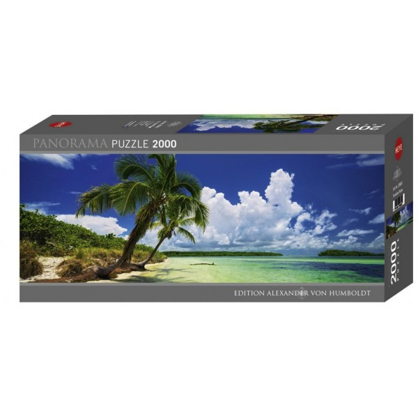 Puzzle panoramic Heye - Paul Marcellini: Paradise Palms 2.000 piese (29860)