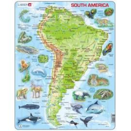 Puzzle Larsen - South America 65 piese (48693)
