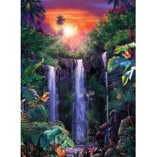 Puzzle Ravensburger 500 Cascada in jungla