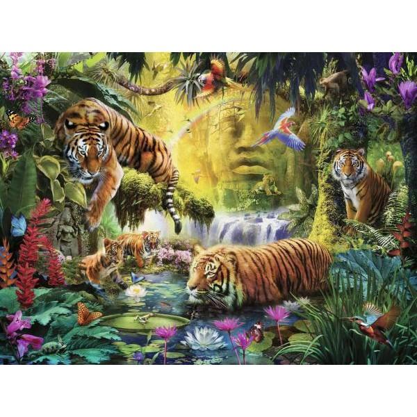 Puzzle Ravensburger 1500 Iaz cu tigri