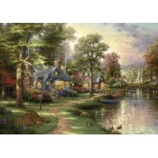 Puzzle Schmidt - 1500 de piese - Thomas Kinkade : Hometown Lake