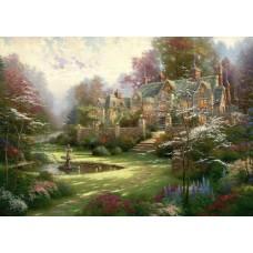 Puzzle Schmidt 2000 Thomas Kinkade : Gardens beyond Spring Gate