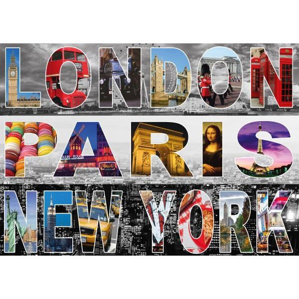 Puzzle Schmidt 1000 London Paris New York
