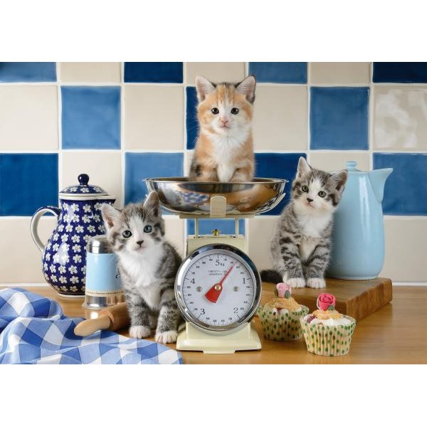 Puzzle Schmidt 500 Cats in the kitchen