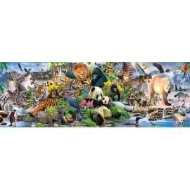 Puzzle panoramic Schmidt - Colorful Animal Kingdom Panorama 1.000 piese (58384)