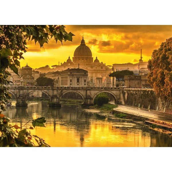 Puzzle Schmidt 1000 Golden light over Rome
