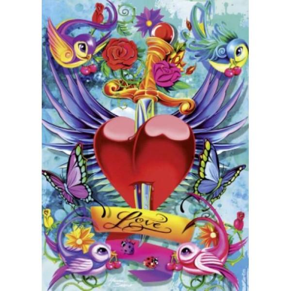 Puzzle Schmidt - 1000 de piese - Tattoo Art : Love