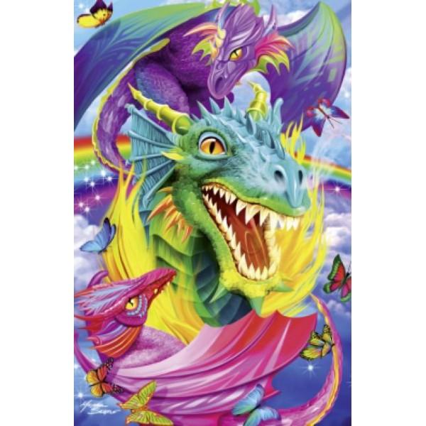 Puzzle Schmidt - 1000 de piese - Tattoo Art : Dragon
