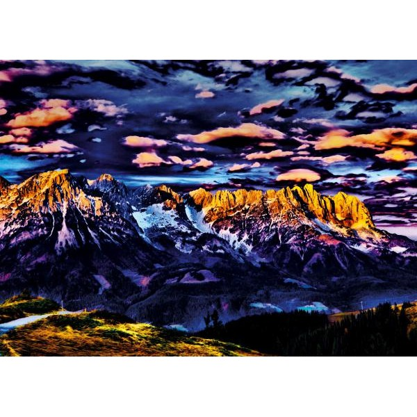 Puzzle Schmidt - 1000 de piese - Michael von Hassel : Mountain landscape
