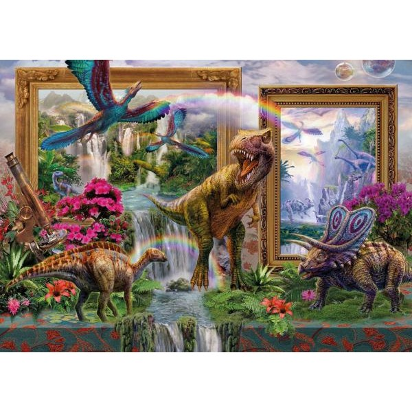 Puzzle Schmidt - 1000 de piese - KRASNY : DINOSAURS - COMING TO LIFE